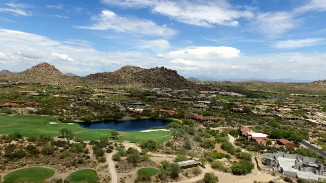 Aerial Scottsdale Arizona Counrty Club Golf Course video