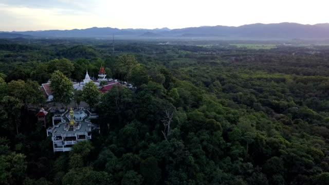 Aerial shoot. Wat Phra That Kao Noi at Nan, Thailand video