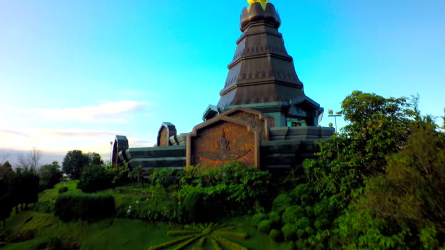 Aerial Shot at Doi Inthanon Chiang Mai,Thailand. 4K video