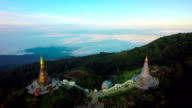 Aerial Shot at Doi Inthanon Chiang Mai,Thailand. 4K video