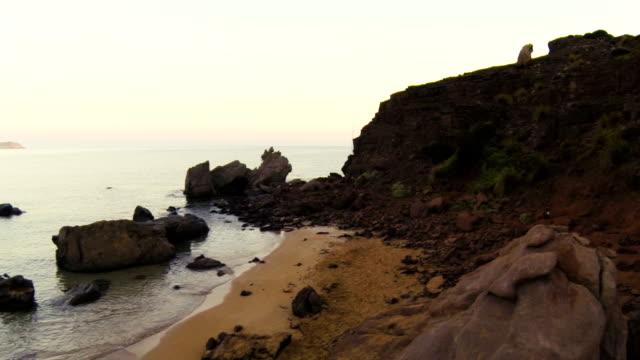 Aerial shot beach (Menorca) video