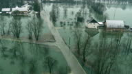 Aerial Shot Of A Flooded Area video
