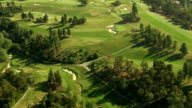 Aerial shot of a golf course, Southern California video