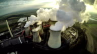 Aerial shot of a Power Station video