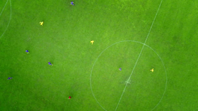 Aerial Shot Of A Soccer Match video
