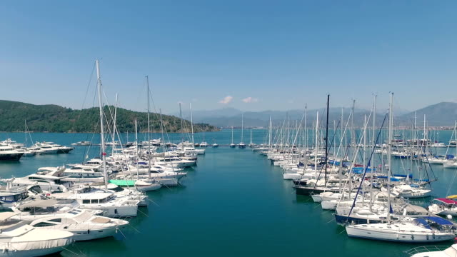 Aerial Shot of Aegean Marina video