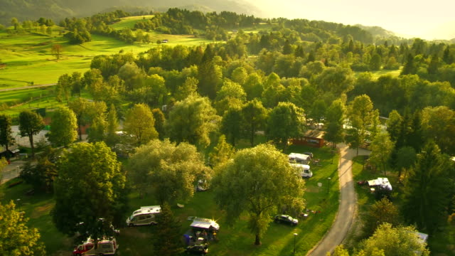 Aerial Shot Of Beautiful Campground video