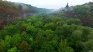 Aerial shot of canyon Kamenec-Podolskiy video