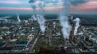 Aerial shot of Chemical Plant video