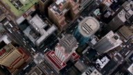 Aerial shot of Chrysler building and Manhattan skyscrapers video