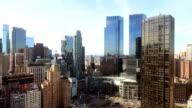 Aerial shot of Columbus Circle, NYC video