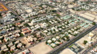 Aerial shot of Dubai, UAE video