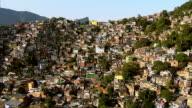 Aerial shot of favela, Rio de Janeiro, Brazil video