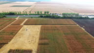 aerial shot of field video
