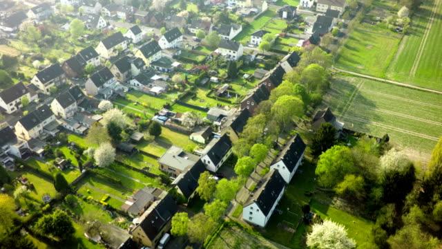 Aerial shot of German Town video