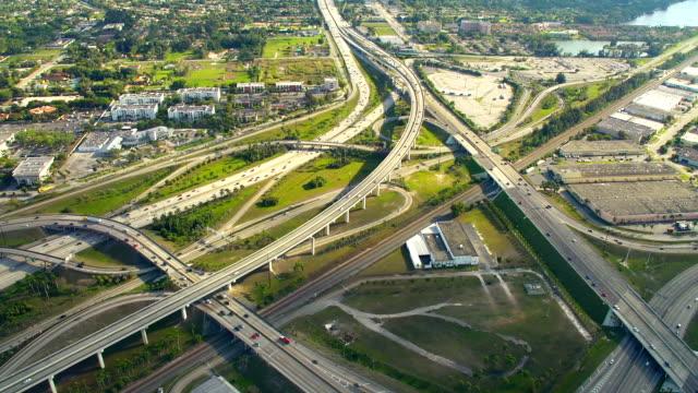 HD: Aerial Shot Of Highway Junction video