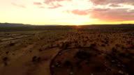 HELI Aerial Shot Of Himba Village video