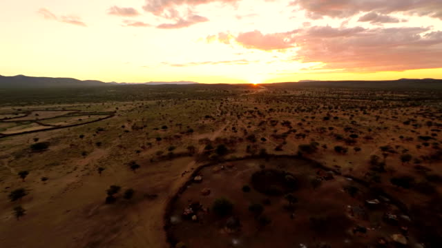 HELI Aerial Shot Of Himba Village video