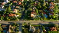 Aerial shot of Hollywood California neighborhood video