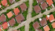 Aerial shot of housing video