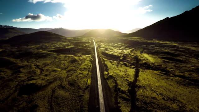 Aerial shot of Iceland Landscape - Snaefellsnes video