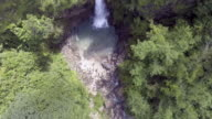 Aerial shot of Jok-ka-din Waterfall in Kanchanaburi, Thailand video