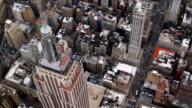 Aerial shot of Manhattan skyscrapers, New York City video