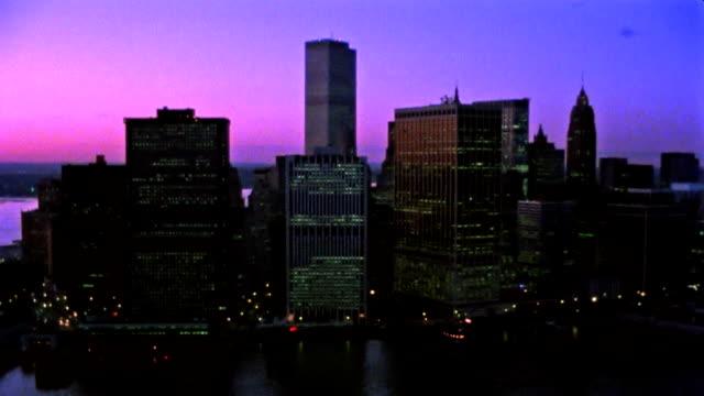 Aerial shot of New York Skyline video