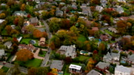 Aerial shot of New York suburb video