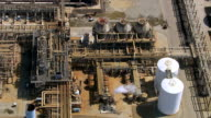 Aerial shot of off oil refinery, Southern California video