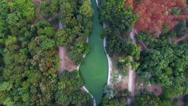 Aerial Shot of Park Pobedy, Odessa, Ukraine video