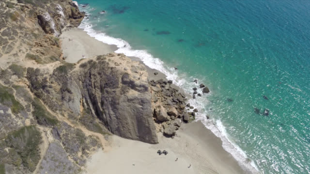 Aerial Shot of Point Dume in Malibu video