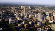 Aerial shot of Portland, Oregon video