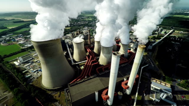 Aerial shot of Power Plant video