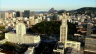 Aerial shot of Rio de Janeiro, Brazil video
