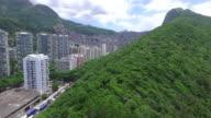 Aerial shot of Rocinha, Brazil's largest favela, Rio de Janeiro, Brazil in UHD 4K resolution video