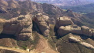 Aerial shot of rock formation, Southern California video