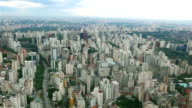 aerial shot of Sao Paulo City video