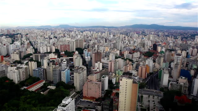aerial shot of Sao Paulo City video