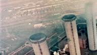 Aerial Shot of Smokestacks video