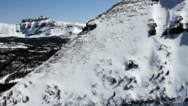 Aerial shot of snowy mountains video