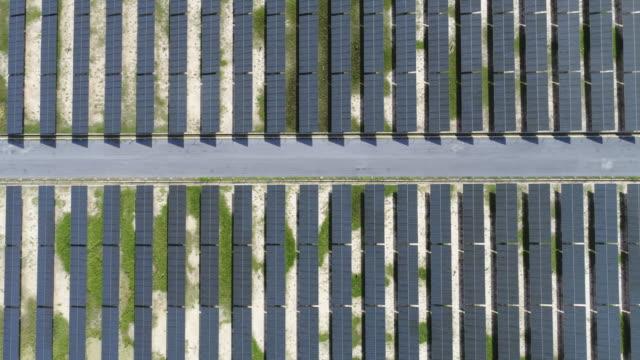 Aerial shot of Solar Power video