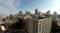 Aerial shot of St Louis downtown video