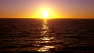 Aerial shot of sunset over Pacific Ocean, California video
