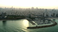 Aerial shot of Tel Aviv city video