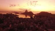 Aerial shot of the city of rio de janeiro global tourist destination video