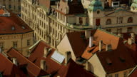 Aerial Shot of the Mala Strana District Leading to the Prague Castle video