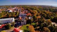 Aerial shot of the Parnu park in the city video
