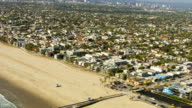 Aerial shot of Venice Beach, California video