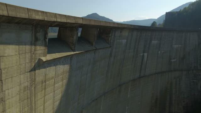 4K Aerial Shot Of Vidraru Dam and Lake Vidraru video